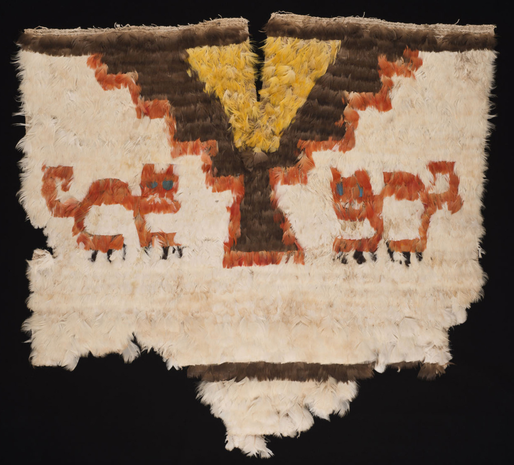 Unku de plumes Pérou Culture Inca Horizon récent 1450 – 1532 ap. J.-C.