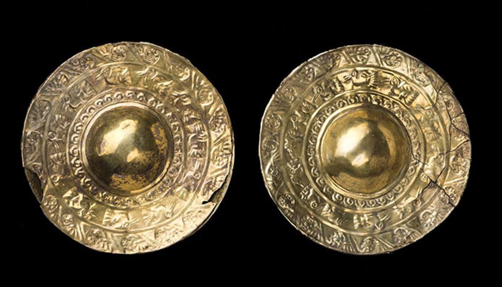 Ornements d'oreilles Pérou – Côte Nord Culture Chimu Intermédiaire récent 1100 – 1470 ap. J.-C.