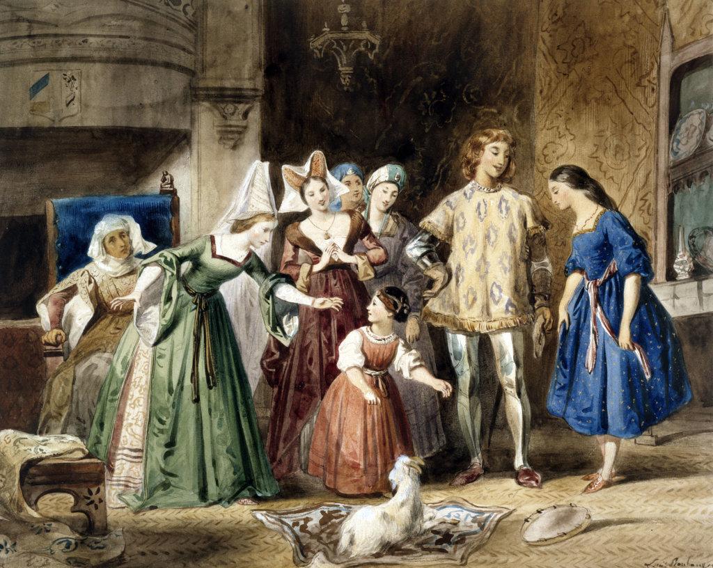 Louis Boulanger, Notre dame, scène d'intérieur, Esmeralda