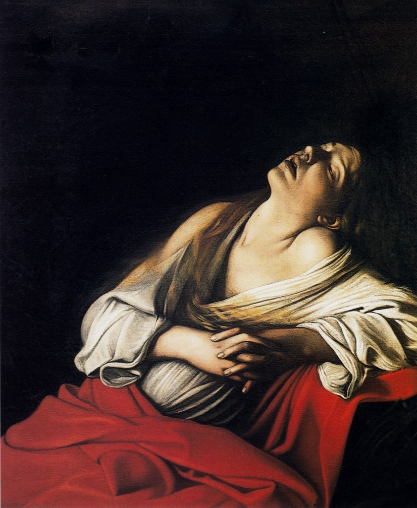 MARIE MADELEINE EN EXTASE (1606), Caravage © Tous droits réservés