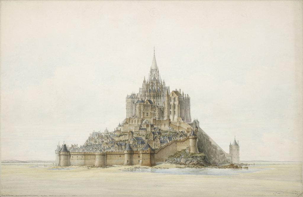 Edouard Corroyer, Mont St-Michel, projet de restauration - Mont St. Michel