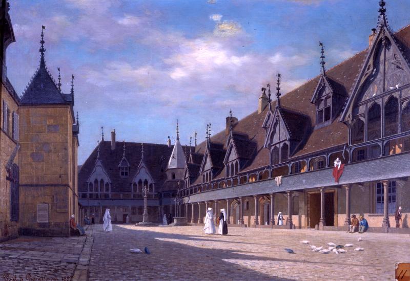 P. de Grandchamp Cour Hôtel-Dieu