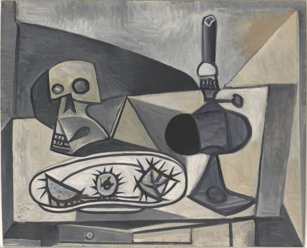 Pablo Picasso (1881-1973), Crâne, oursins et lampe sur une table, [Antibes-Paris], 27 novembre 1946