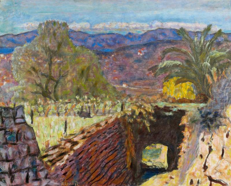 Bonnard, Paysage du Cannet par temps de Mistral, 1922