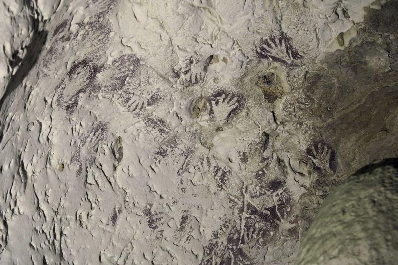 Peintures rupestres découvertes par Luc-Henri Fage dans les années 1990, Bornéo