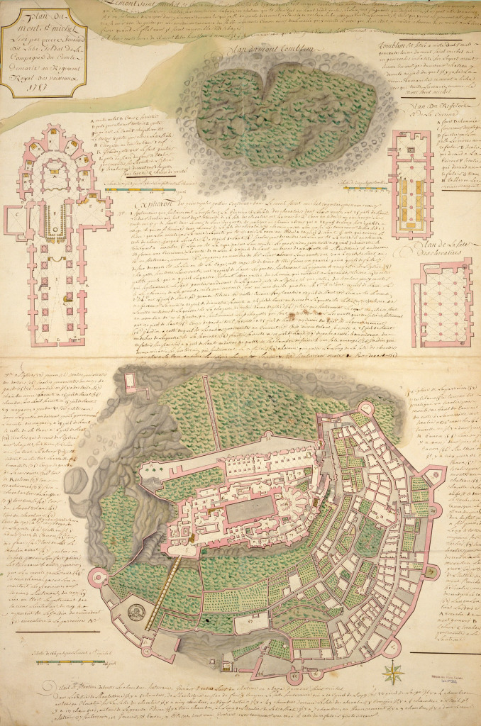 Pierre Jaussaud, Plan du Mont Saint Michel - Mont St. Michel