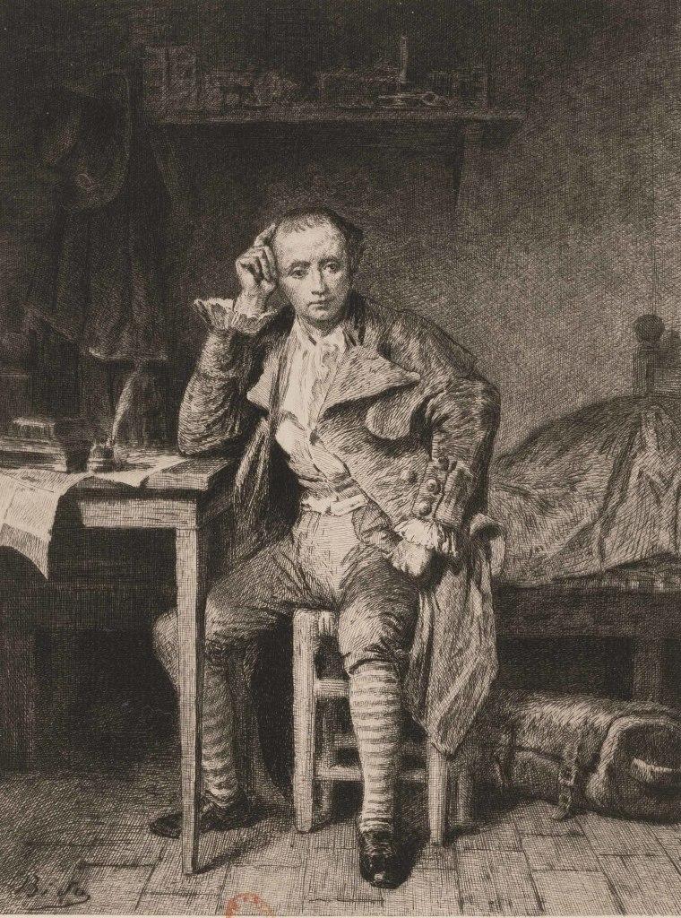 Portrait d'André Chénier à Saint-Lazare
