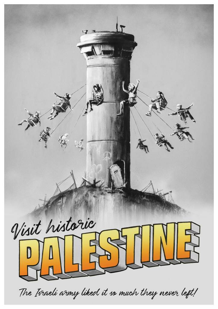 Poster, Hôtel de Banksy, Palestine