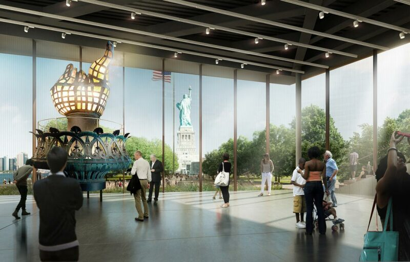 Projection du futur musée de la statue de la liberté © Tous droits réservés