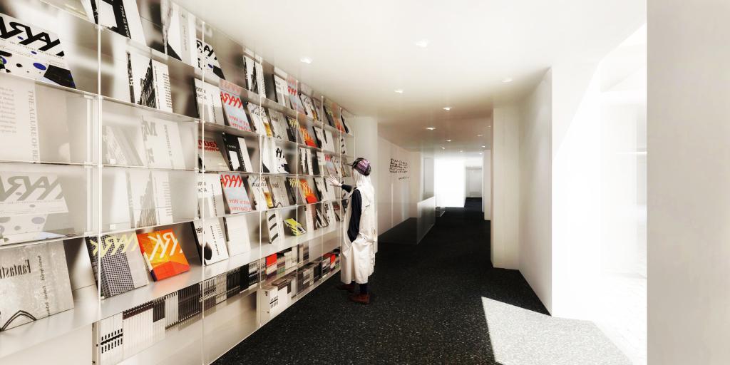 Fondation HCB, 79 rue des Archives, perspectives, librairie et accueil