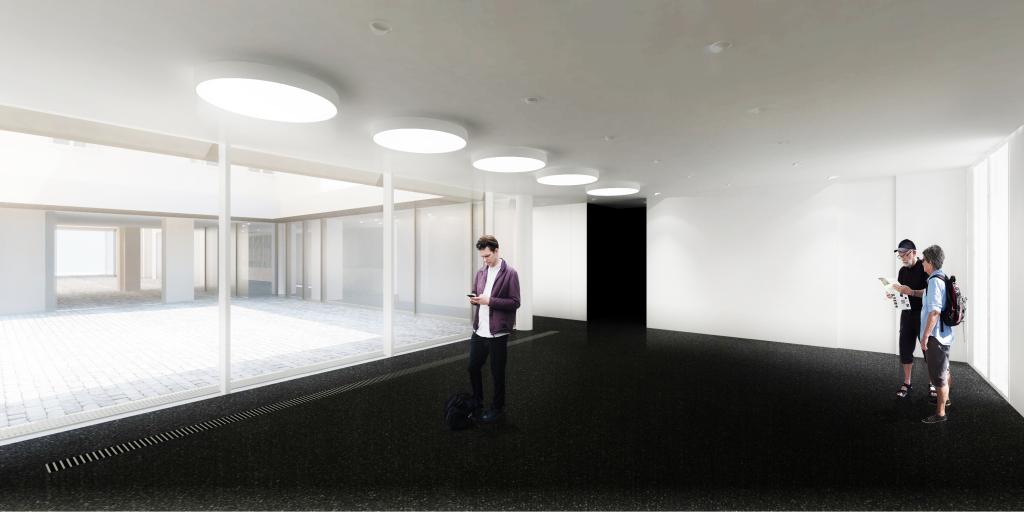 Fondation HCB, 79 rue des Archives, perspectives, salle C, salle de conférence