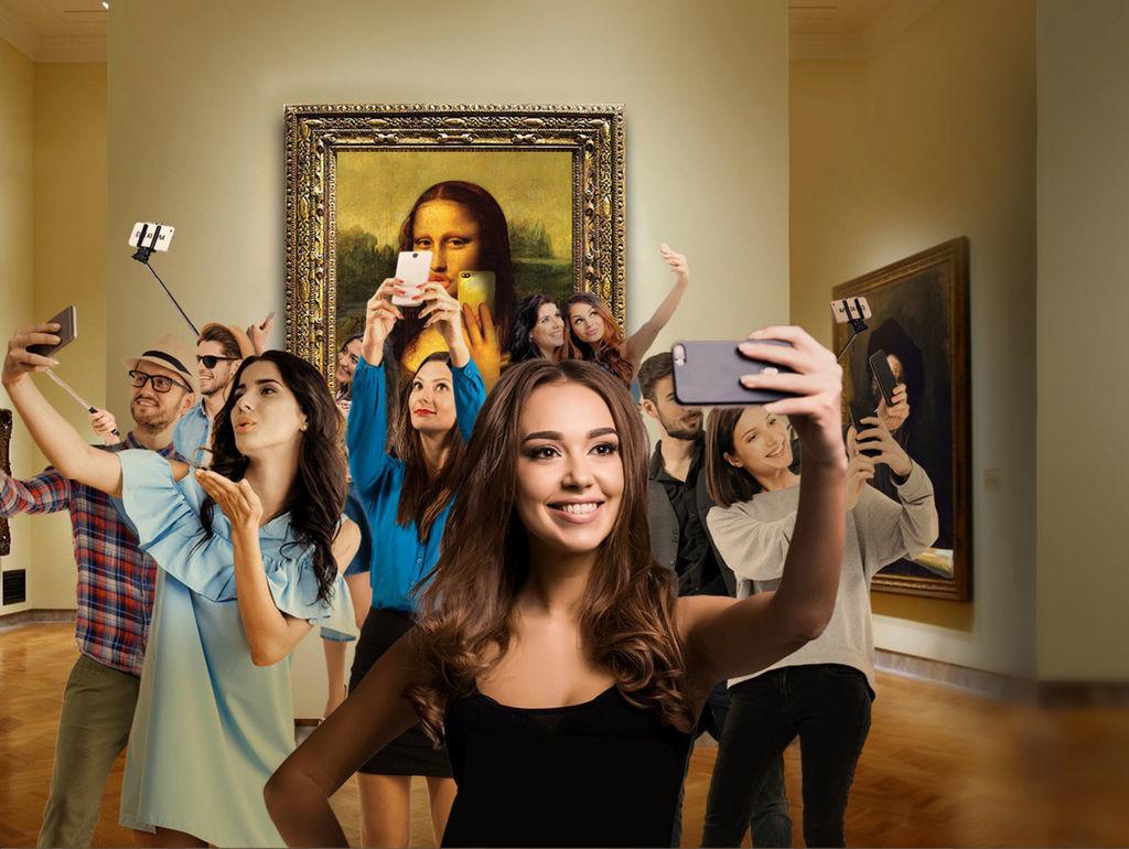 Selfie dans un musée