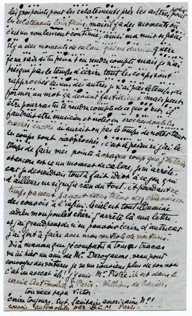 Victor Tardieu, lettre à son fils Jean Tardieu
