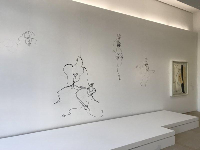 Vue de l'exposition Calder-Picasso, Musée Picasso, Paris (64)