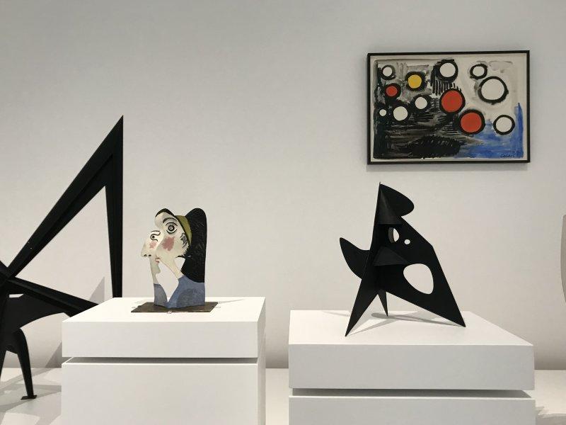 Vue de l'exposition Calder-Picasso, Musée Picasso, Paris (78)