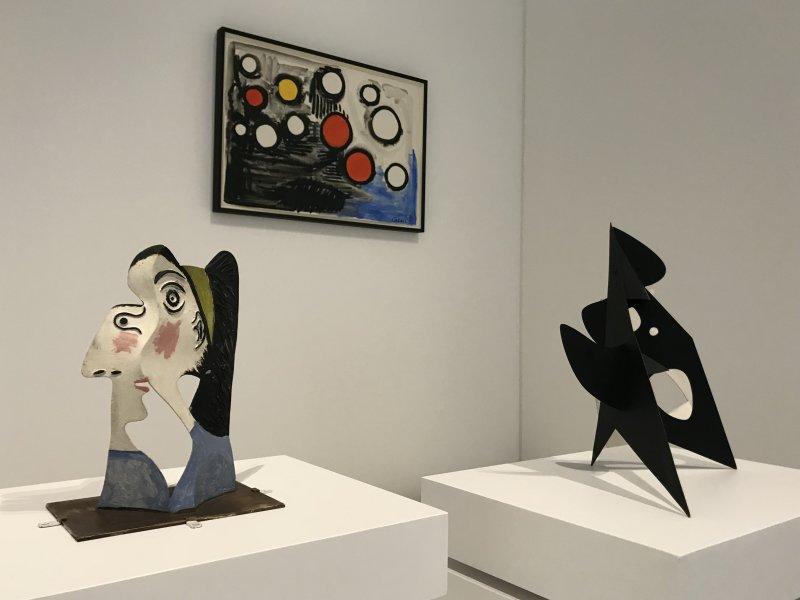 Vue de l'exposition Calder-Picasso, Musée Picasso, Paris (84)