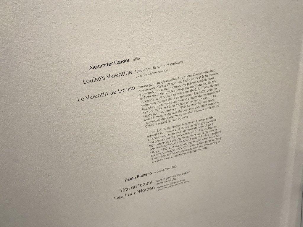 Vue de l'exposition Calder-Picasso, Musée Picasso, Paris (86)