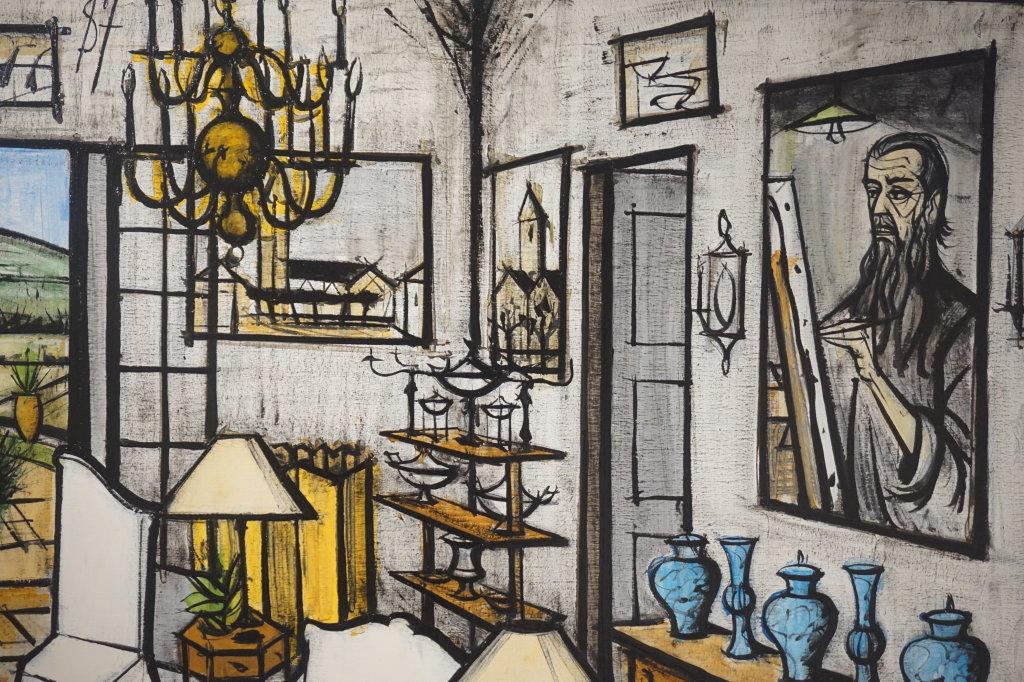 Vue de l'exposition Couty-Buffet au Musée Jean Couty (45)