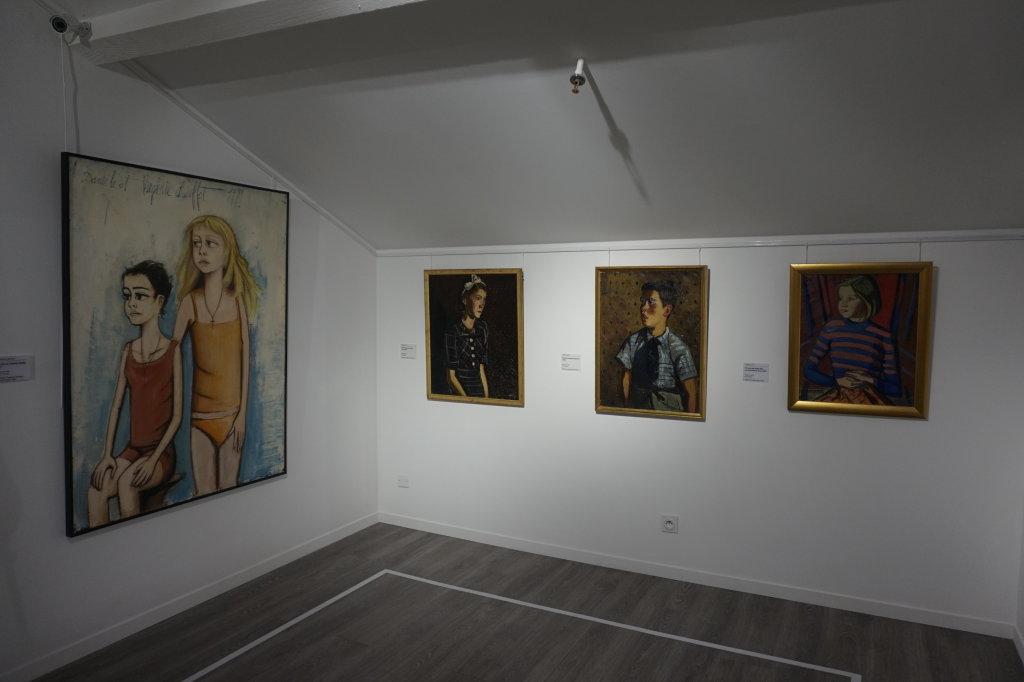 Vue de l'exposition Couty-Buffet au Musée Jean Couty (56)