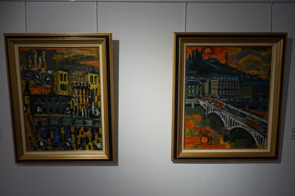 Vue de l'exposition Couty-Buffet au Musée Jean Couty (64)