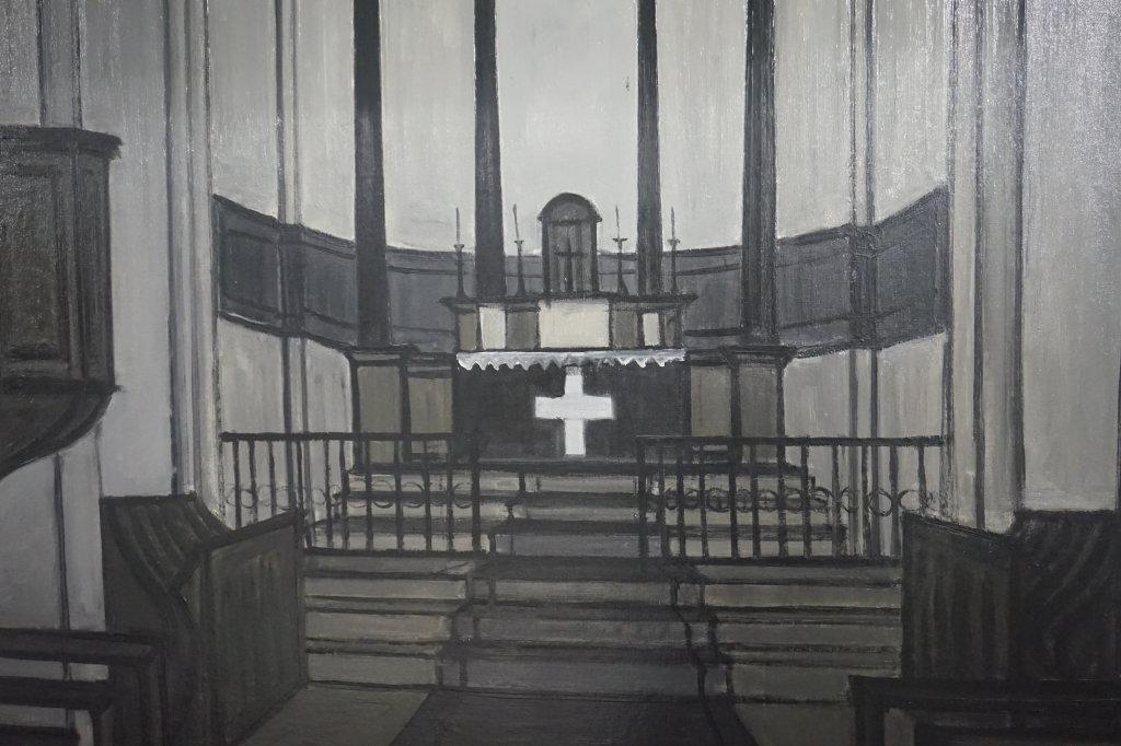 Vue de l'exposition Couty-Buffet au Musée Jean Couty (69)