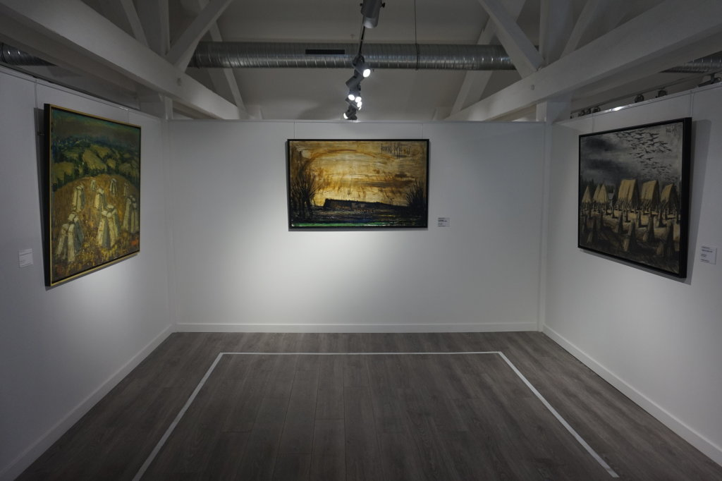 Vue de l'exposition Couty-Buffet au Musée Jean Couty (77)