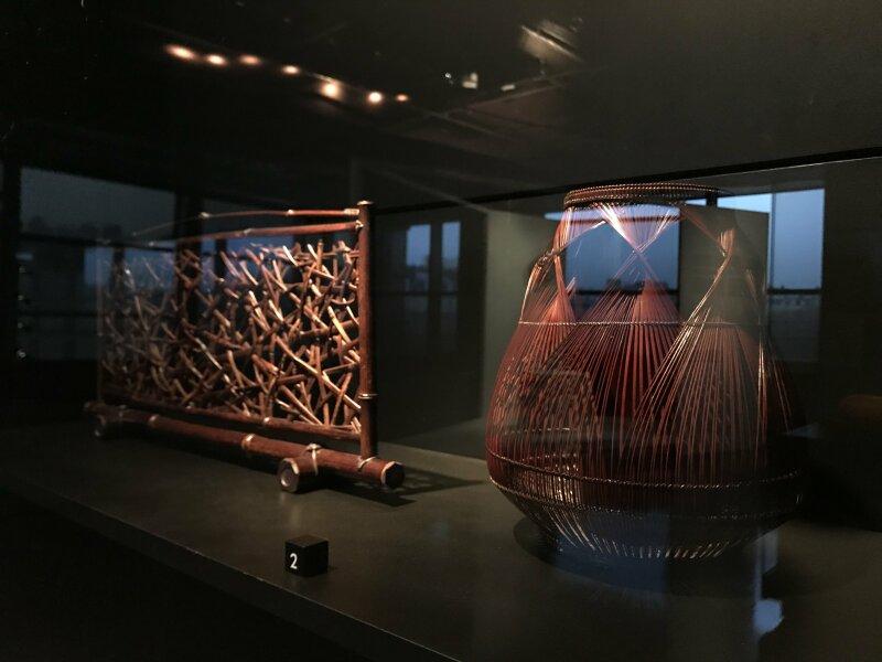 Vue de l'exposition Fendre l'air, l'art du bambou au Japon - Musée du Quai Branly - Jacques Chirac (34)
