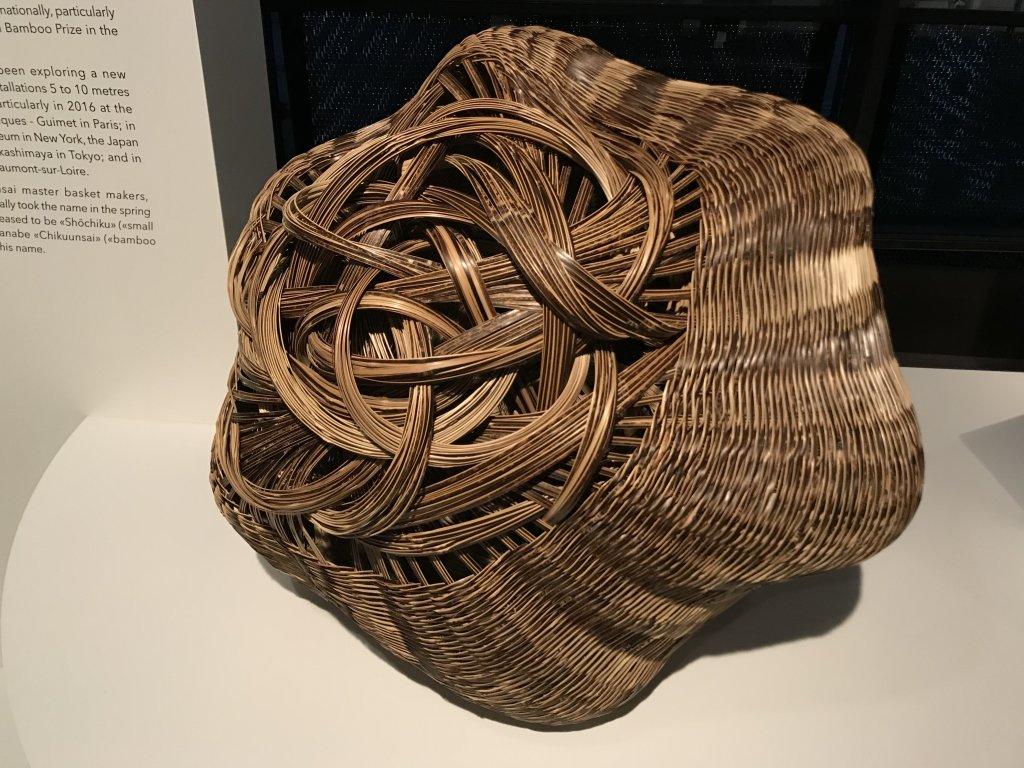 Vue de l'exposition Fendre l'air, l'art du bambou au Japon - Musée du Quai Branly - Jacques Chirac (62)