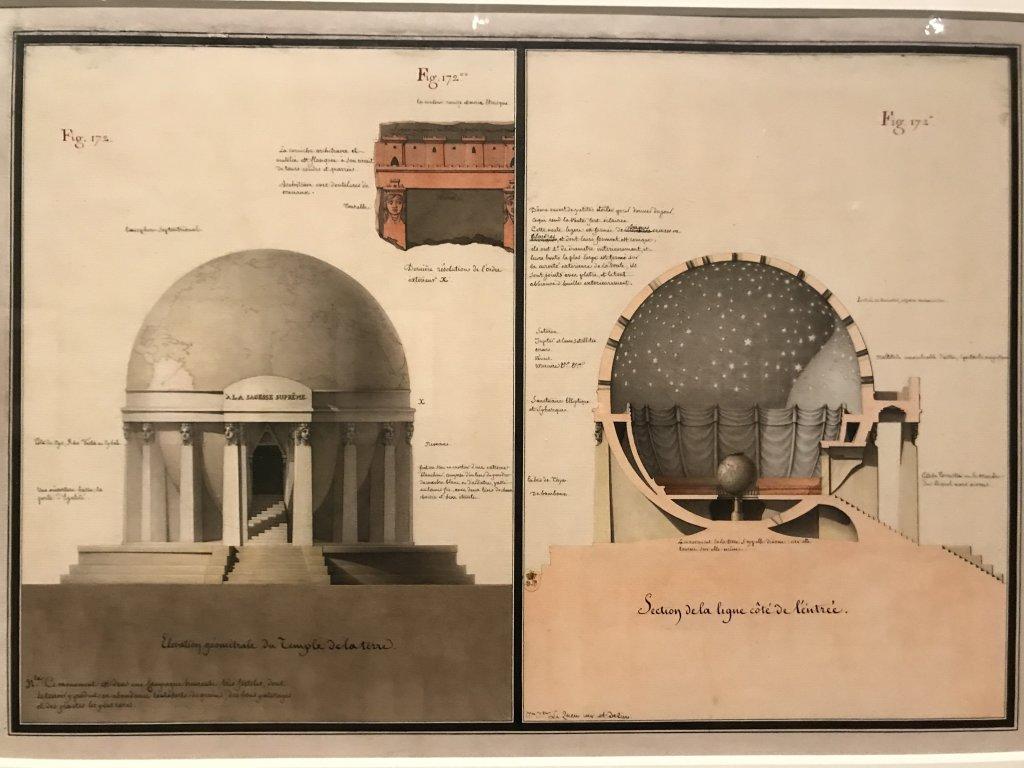 Vue de l'exposition Jean-Jacques Lequeu, Bâtisseur de fantasmes - Petit Palais (20)