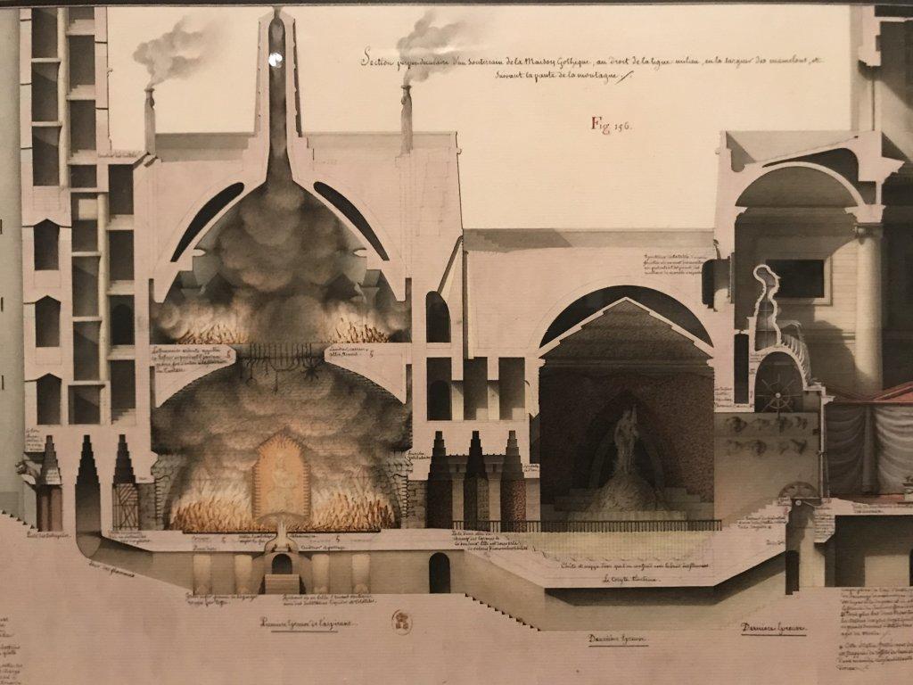 Vue de l'exposition Jean-Jacques Lequeu, Bâtisseur de fantasmes - Petit Palais (30)