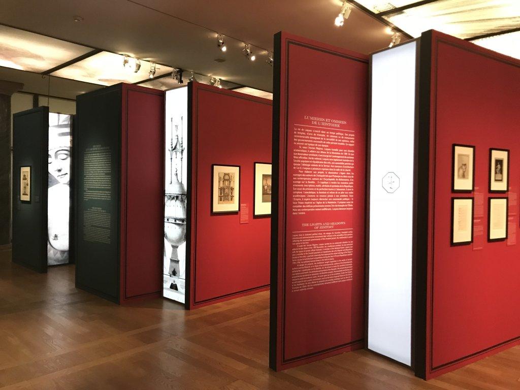 Vue de l'exposition Jean-Jacques Lequeu, Bâtisseur de fantasmes - Petit Palais (35)