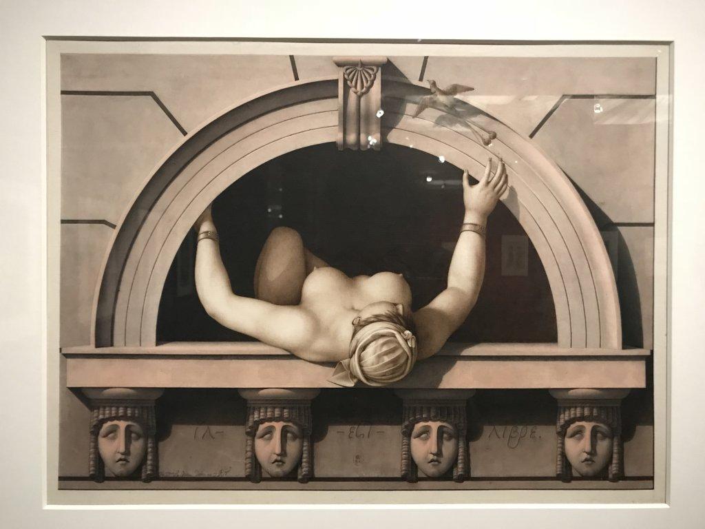 Vue de l'exposition Jean-Jacques Lequeu, Bâtisseur de fantasmes - Petit Palais (60)