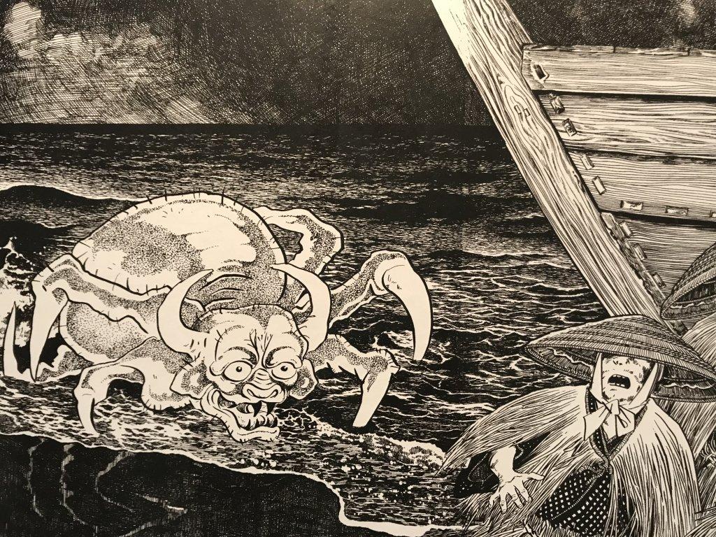 Vue de l'exposition Monstres, mangas et Murakami, Musée en herbe, Paris