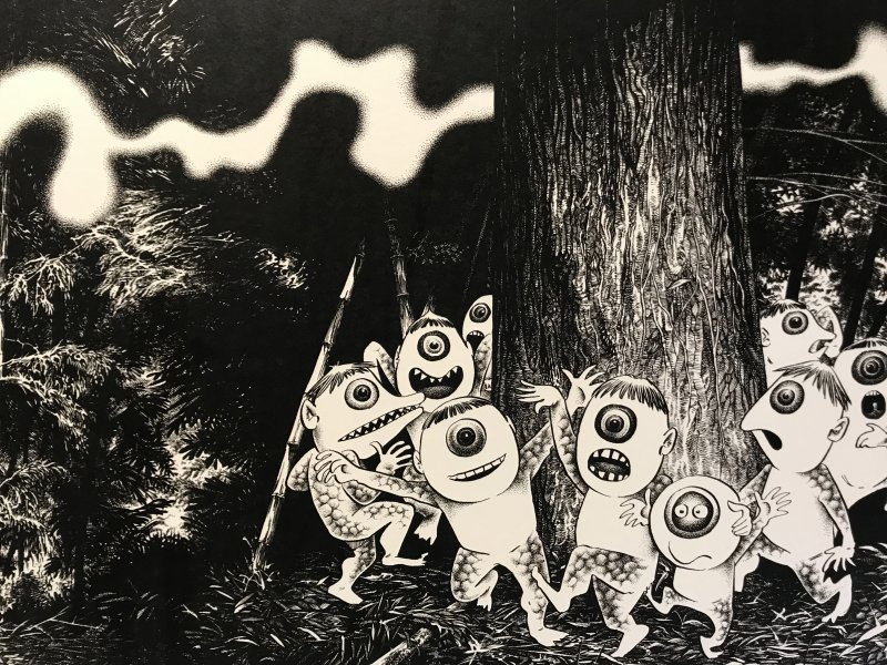 Vue de l'exposition Monstres, mangas et Murakami, Musée en herbe, Paris (70)