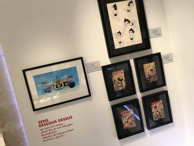 Vue de l'exposition Monstres, mangas et Murakami, Musée en herbe, Paris (71)