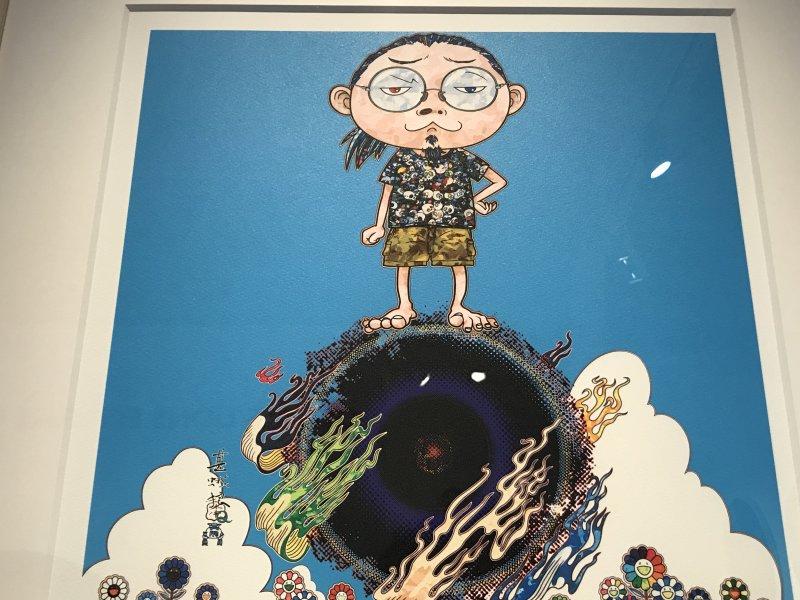 Vue de l'exposition Monstres, mangas et Murakami, Musée en herbe, Paris (74)