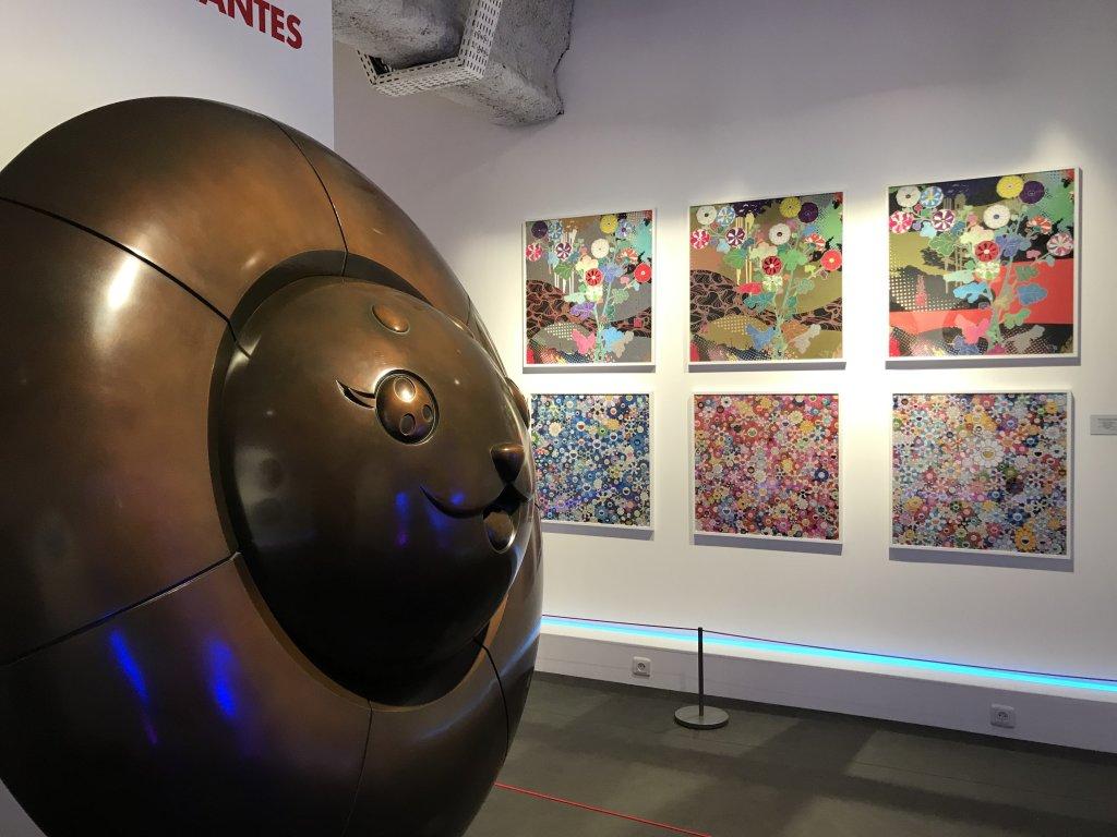 Vue de l'exposition Monstres, mangas et Murakami, Musée en herbe, Paris (77)