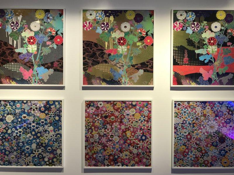 Vue de l'exposition Monstres, mangas et Murakami, Musée en herbe, Paris (78)