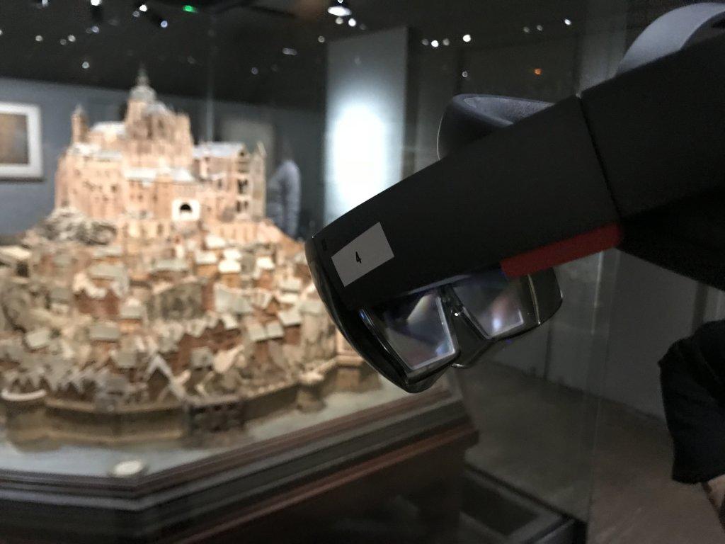 Vue de l'exposition Mont Saint-Michel, regards numériques sur la maquette - Musée des Plans-reliefs (29)