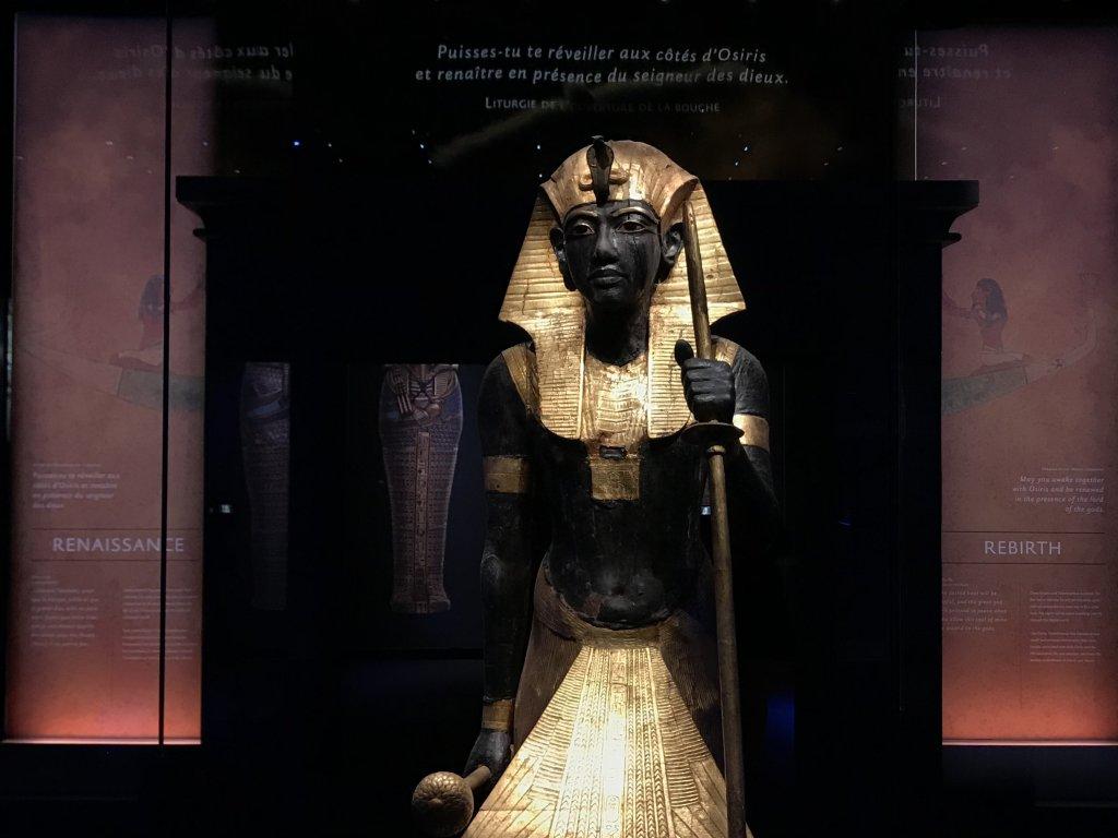 Vue de l'exposition Toutankhamon, la Grande Halle de la Villette, Paris (23)