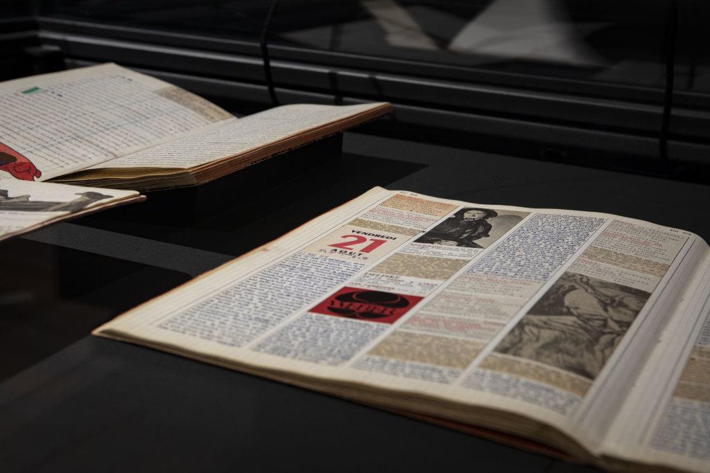 Vue de l'exposition Uniques, Fondation Martin Bodmer, Cologny, Suisse,