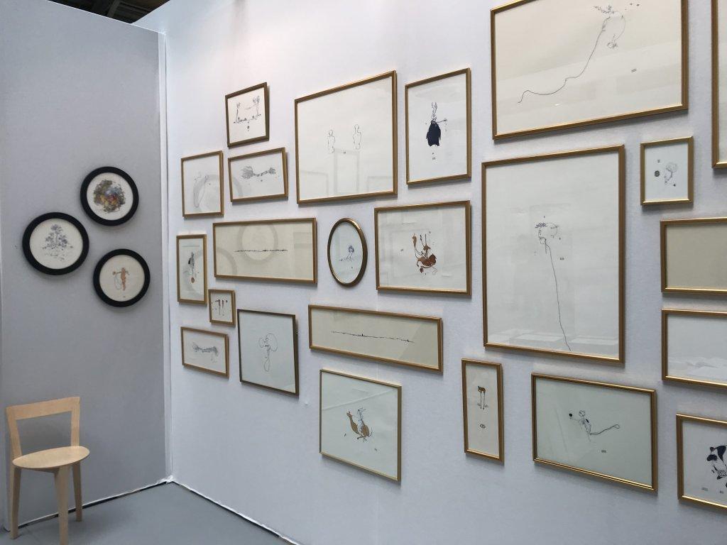 Vue du salon Drawing Now Art Fair, Carreau du Temple, Paris (136)