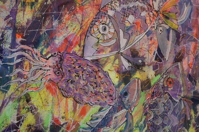 Vue du Salon du dessin et de la peinture à l'eau -ART CAPITAL 2017 - Grand Palais, Paris (67)