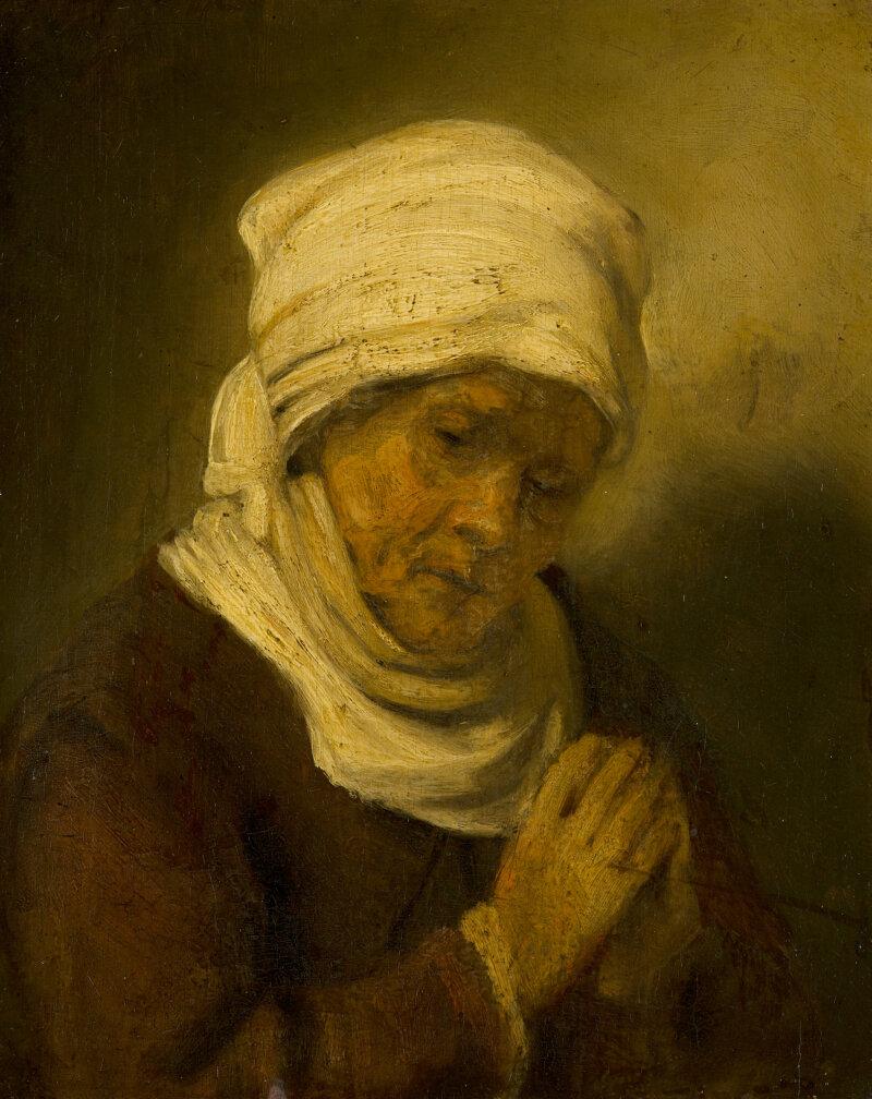 Omgeving van Rembrandt, Biddende Vrouw, c. 1660