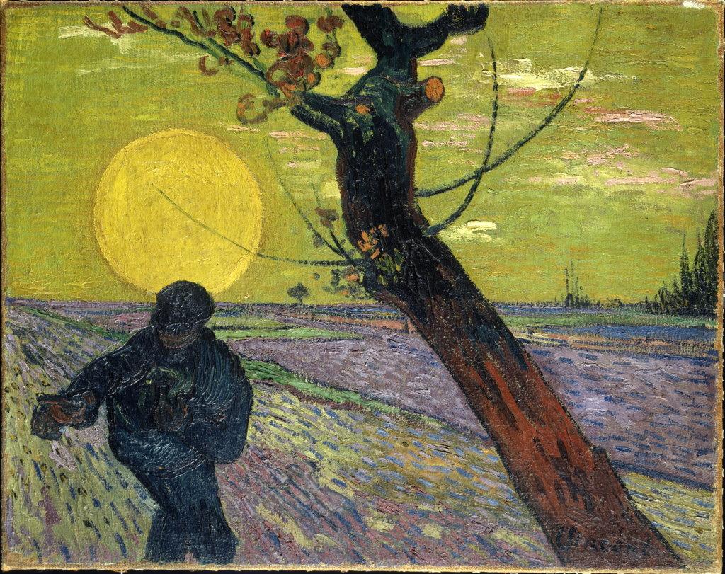 Vincent Van Gogh, Le semeur, soleil couchant, 1888
