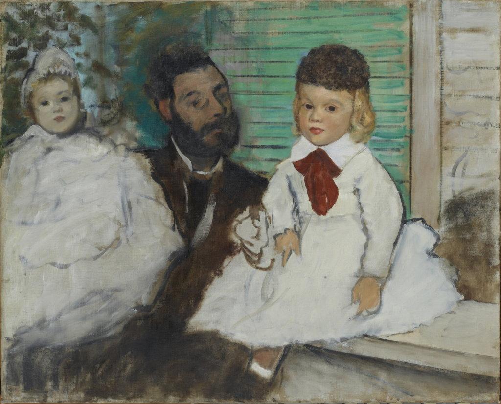Edgar Degas, Ludovic Lepic et ses filles, vers 1871