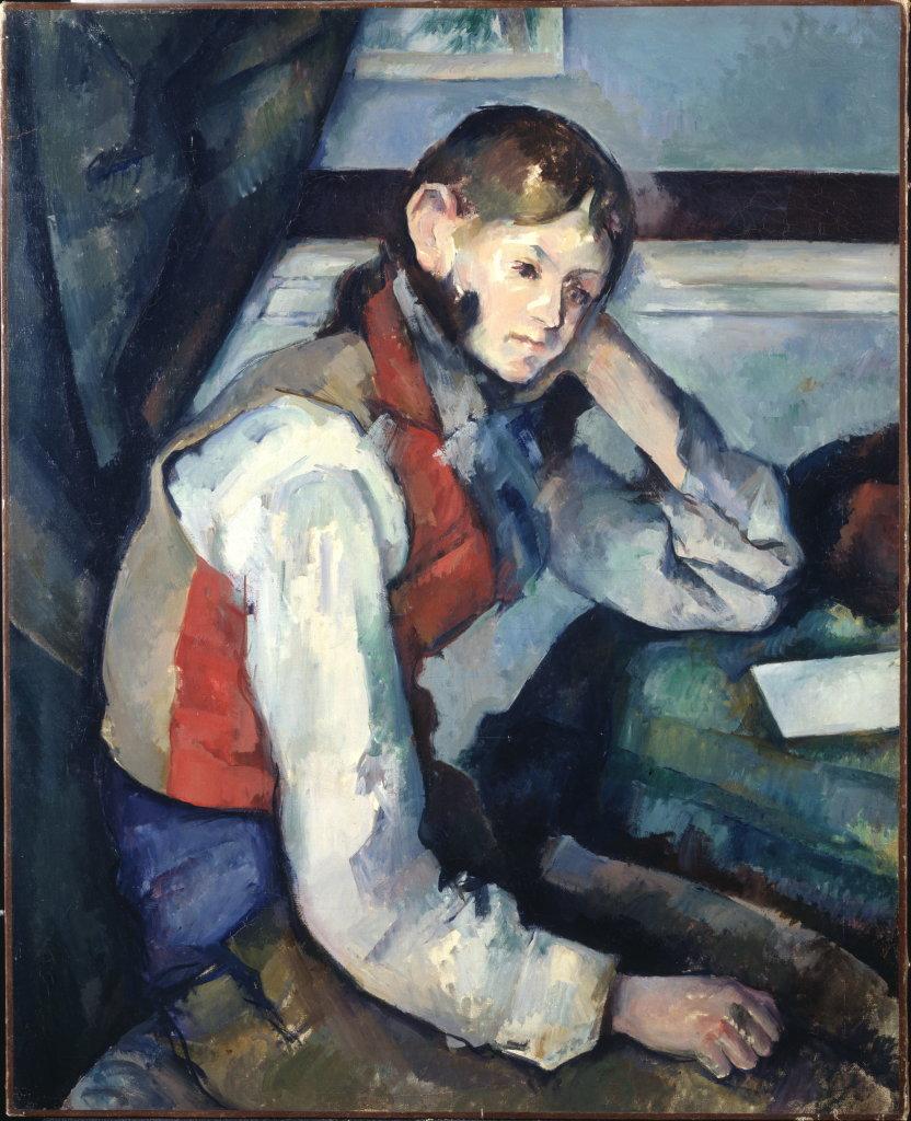 Paul Cézanne, Le Garçon au gilet rouge, 1888-1890