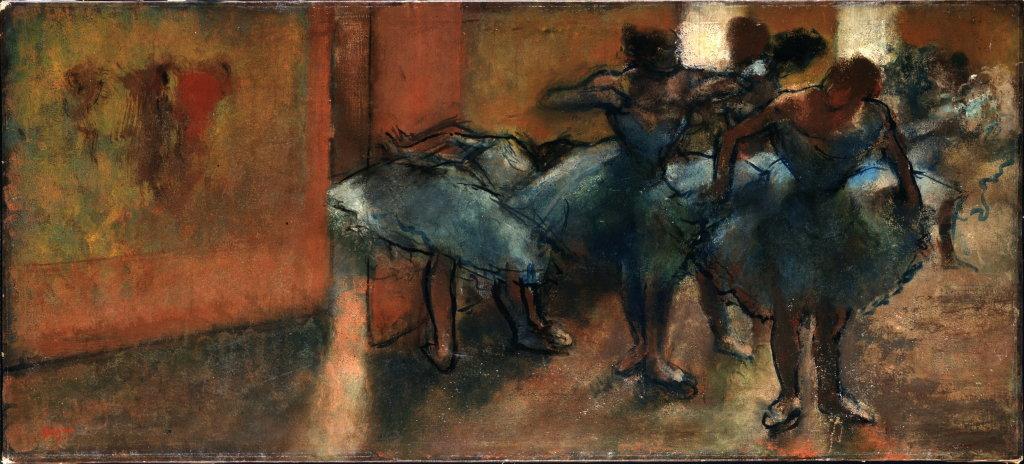 Edgar Degas, Danseuses au foyer, vers 1889