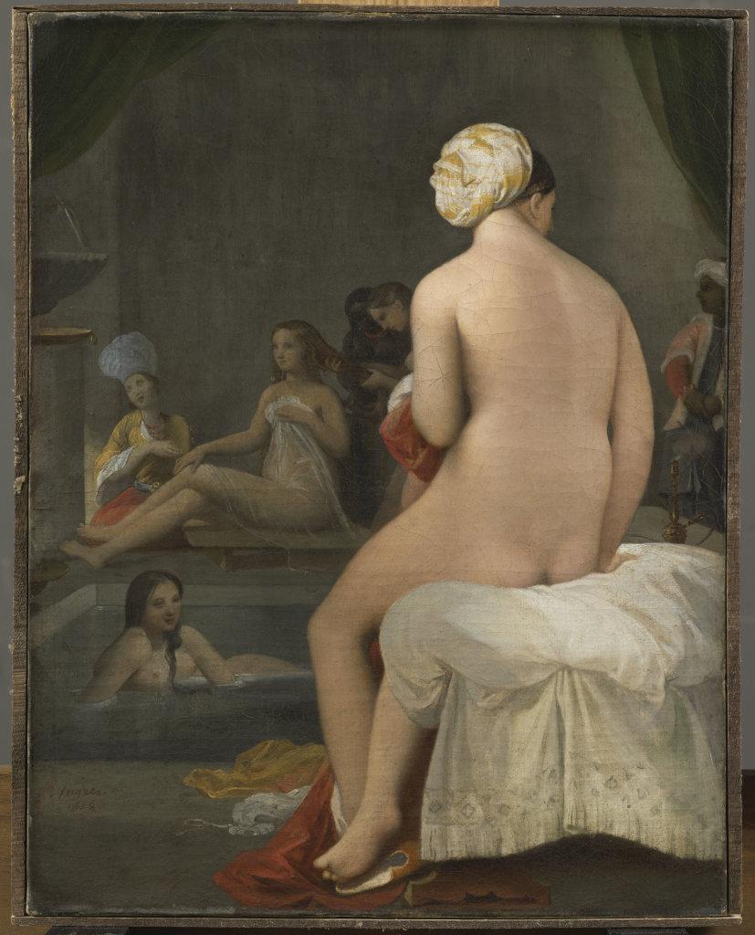 Ingres Jean-Auguste-Dominique, La petite baigneuse, Intérieur de harem