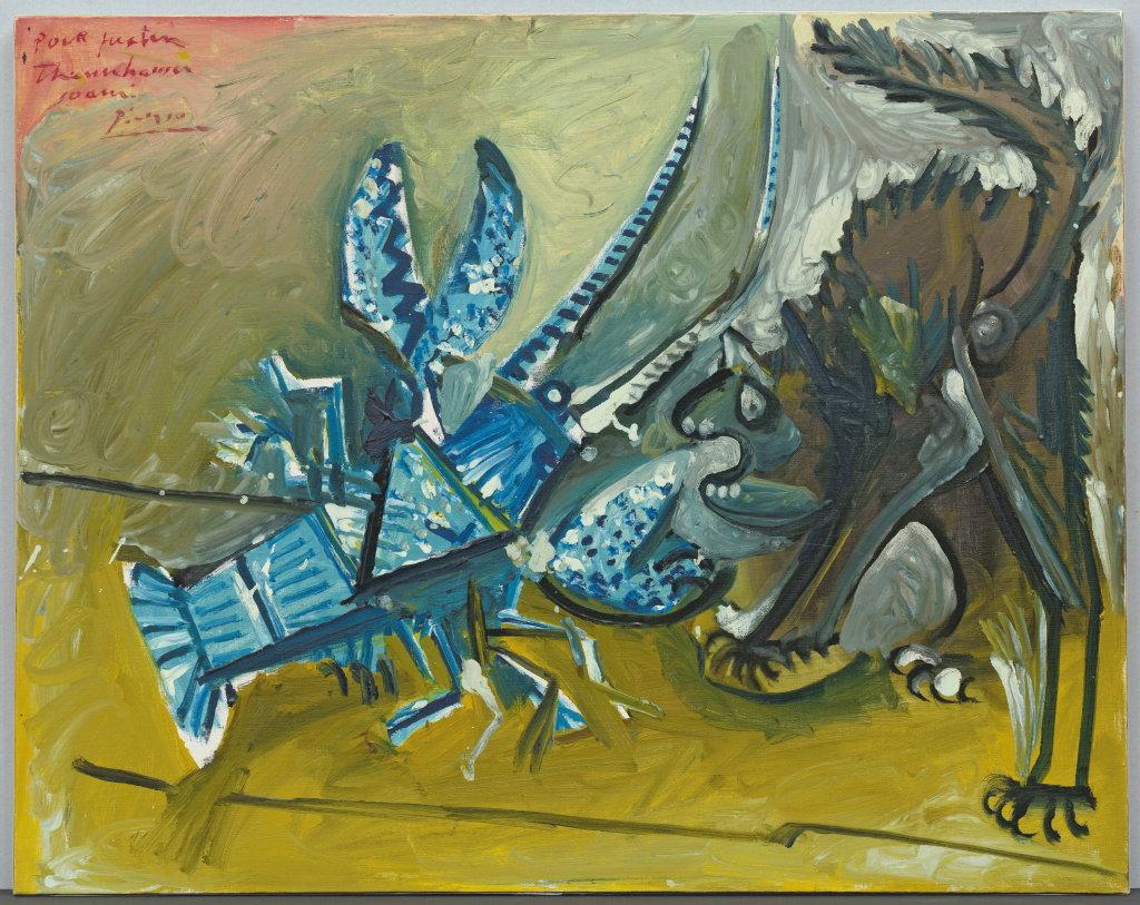 Pablo Picasso, Le Homard et le chat, 1965